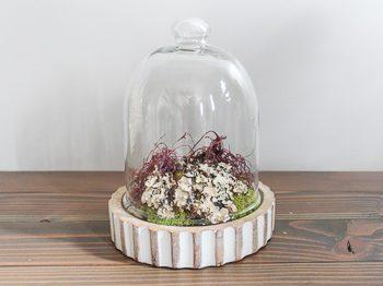 simple faux terrarium home decor