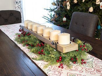DIY Christmas table centerpiece large