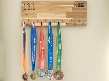 DIY Marathon medal display