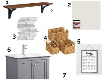 Laundry room design plan one room challenge spring 2019