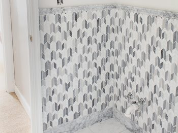 marble mosaic wall tile one room challenge