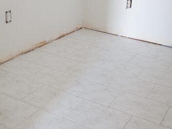 white ceramic marble look floor