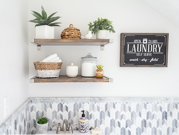 Laundry Room Reveal One Room Challenge Spring 2019