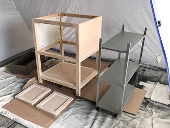 One room challenge woodworking