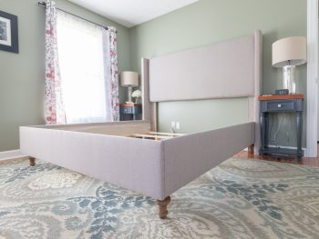 How to make a DIY upholstered Bed Frame