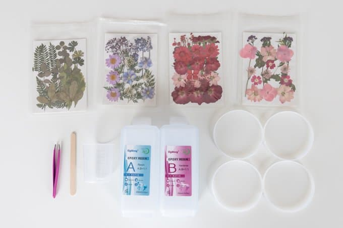 DIY Resin Coasters with Dried Flowers 7