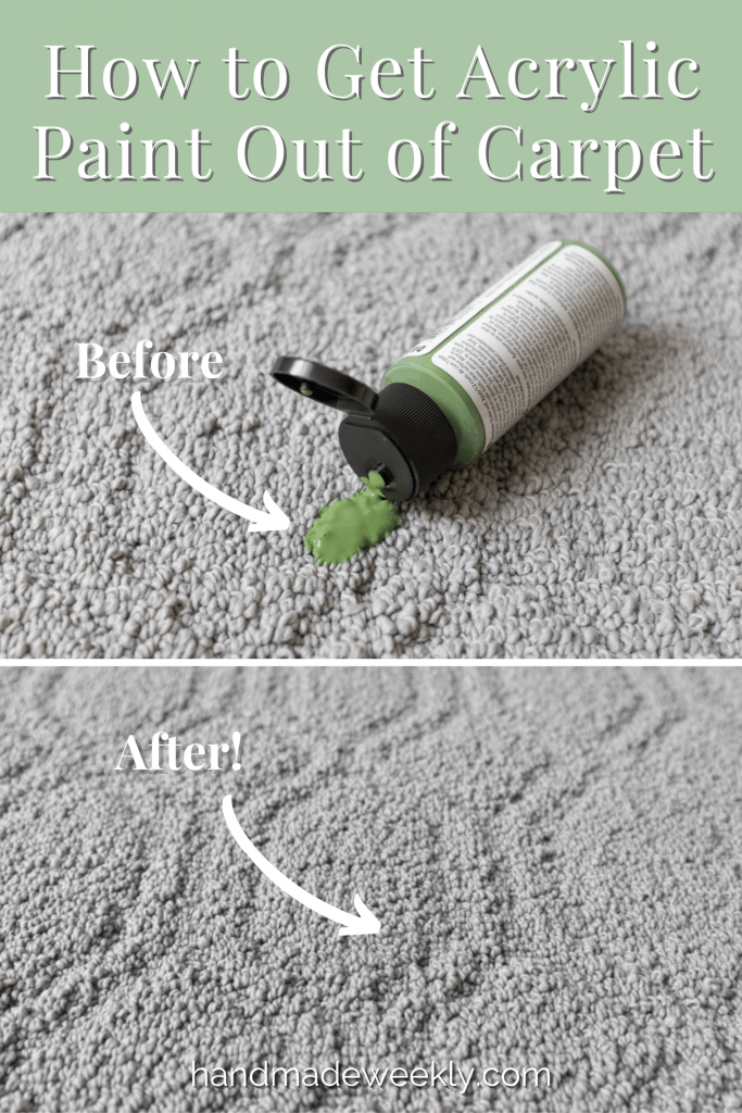 How to get wet or dried acrylic paint out of carpet
