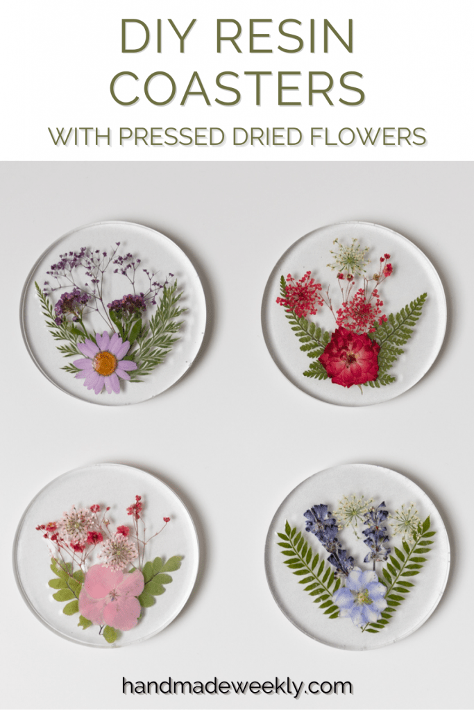How to make resin coasters with pressed flowers