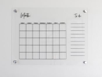 DIY Acrylic wall calendar with svg file 12