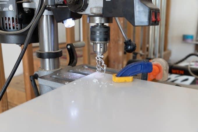Step drill bit to cut acrylic