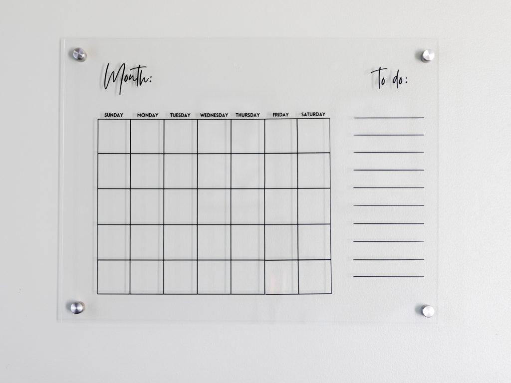 DIY Acrylic wall calendar with svg file 9