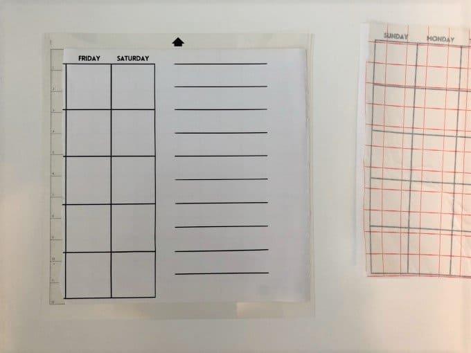 DIY Acrylic wall calendar with svg file 8
