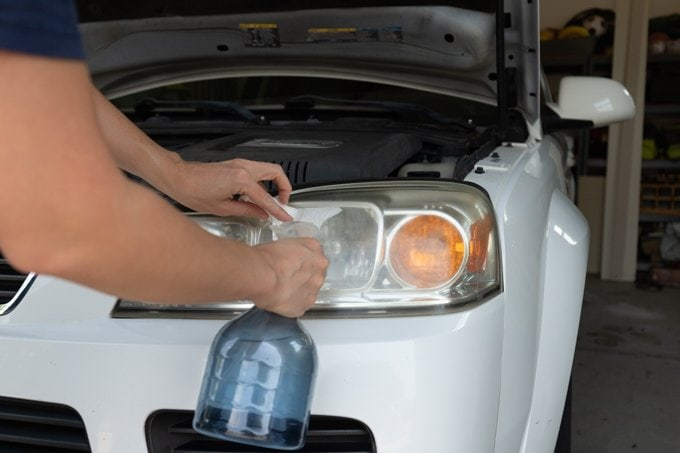 How to restore headlights - Step 1