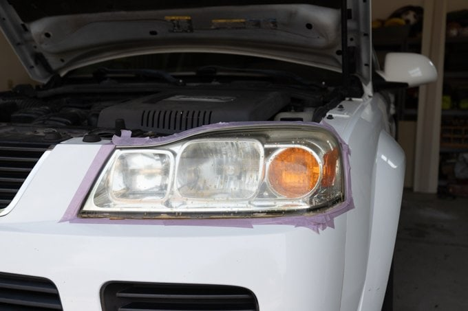 How to restore headlights - Step 3.1