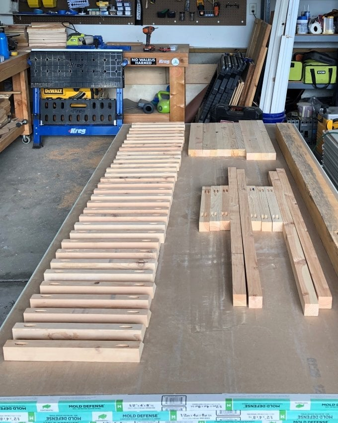 DIY Cedar planter bench 5