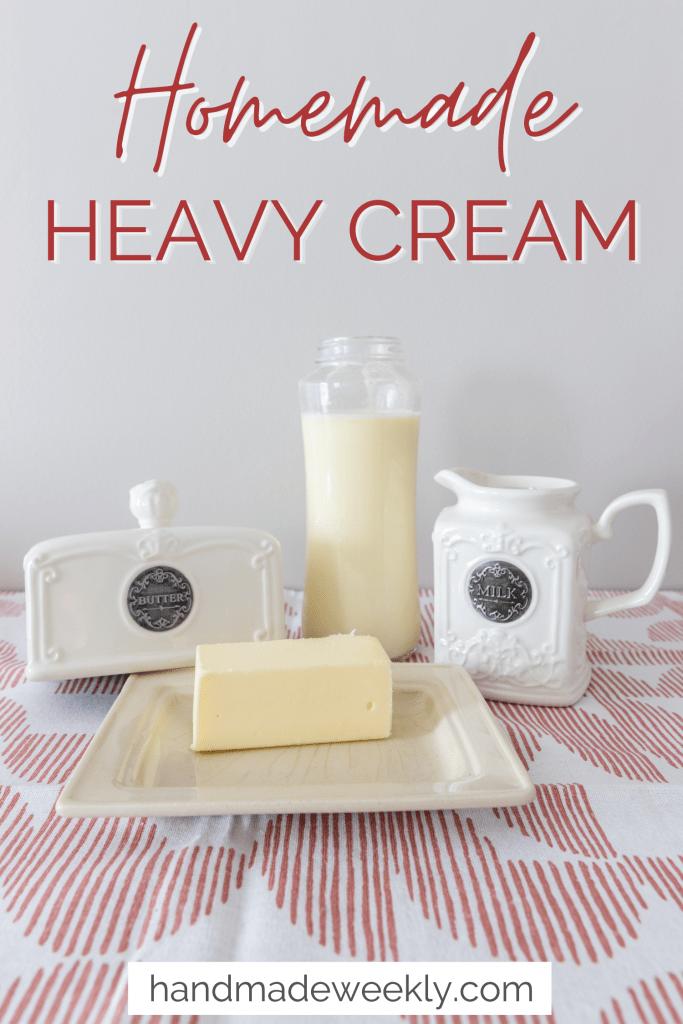 Homemade heavy cream recipe
