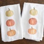 DIY pumpkin fall tea towels